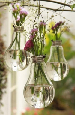 4 Backyard DIYs You Need to Try -  Light Bulb Vases