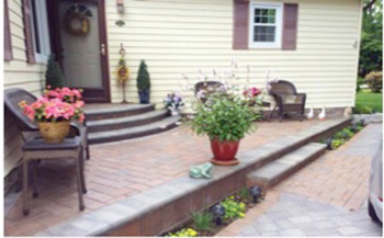 Before and After: Beautiful Raised Patio & Driveway