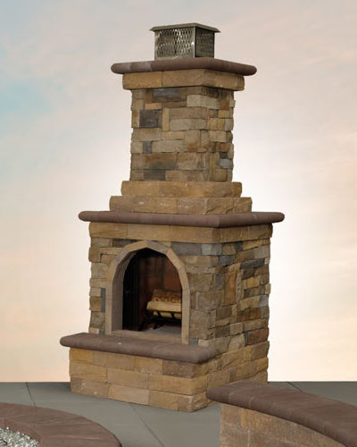 Mini Fully-Assembled Canyon Ledge Fireplace