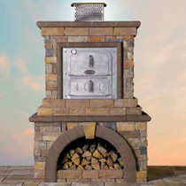 New! Cambridge Stone Veneer Pizza Oven