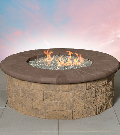 Pre-Packaged Pyzique Round Gas Fire Pit Kit