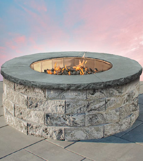 Pre-Packaged Garden Wall Round Gas Firepit Kit
