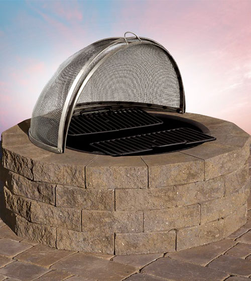 Pre-Packaged Pyzique Round Barbeque & Fire Pit Kit