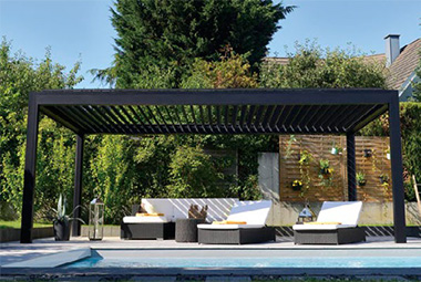 New! Louvered Pergola