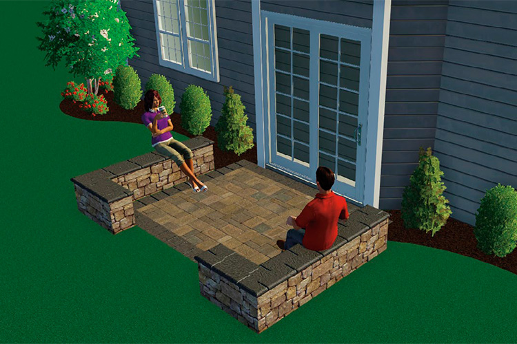 DREAM IT - 10 x 10 Paver Patio with Seating Wall
